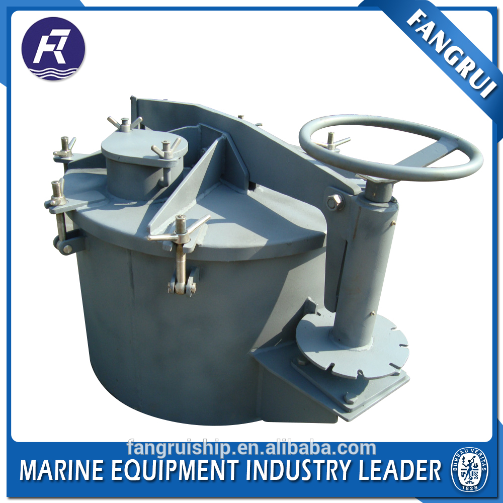 Marine boat round manhole electrical line boat cover