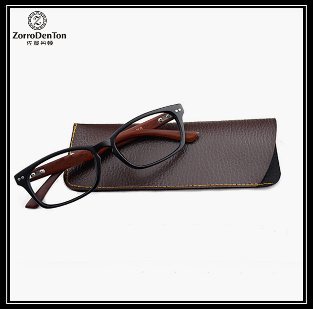 Men Womens Retro Vintage Brown Leather Portable Eyeglasses Eyewears Small Carry Case Bag Pouch