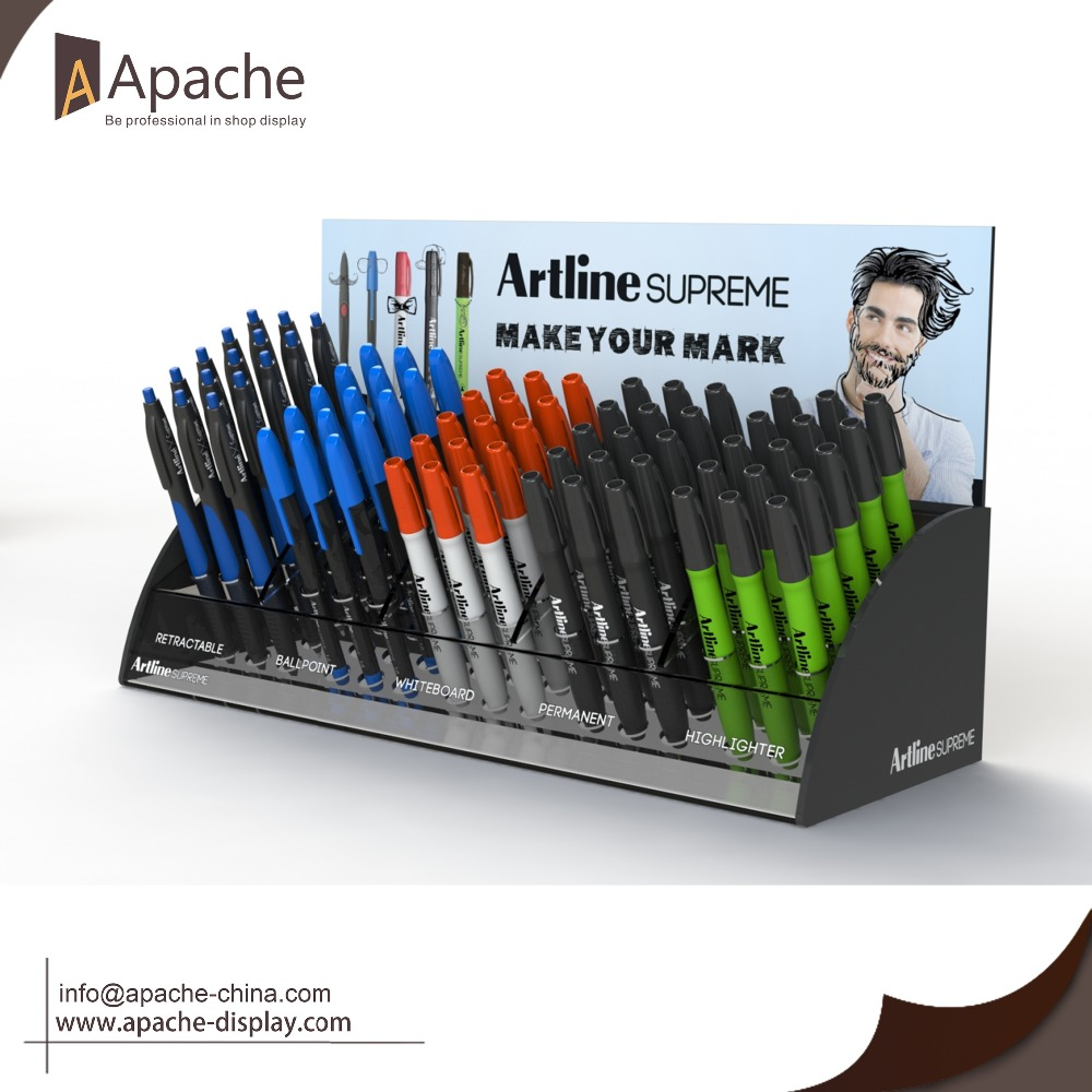 Custom High Quality Hot Sale Acrylic Pen Counter <strong>Display</strong> for Company Staff