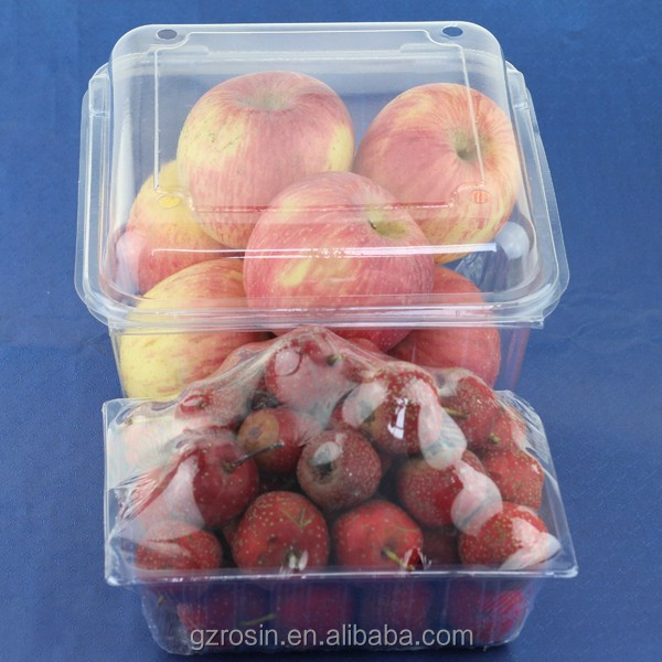 disposible plastic food container/ 125g strawberry punnet/blueberry clamshell