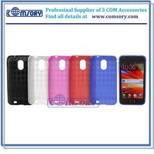 TRANSPARENT CHECKER TPU SKIN CASE for Samsung Galaxy S2 Epic 4G Touch , accessories for Samsung Galaxy S2