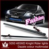 54cm 48smd LED Remote Flash Car Strobe Knight Rider Light Strip Kit Waterproof