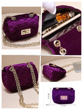 Real photo stock women velvet bag handbags at cheapest low price,no MOQ