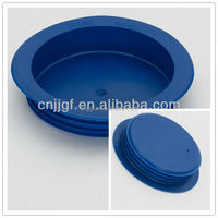 Round Plastic Gas Pipe End Protection Caps With Internal Ribs