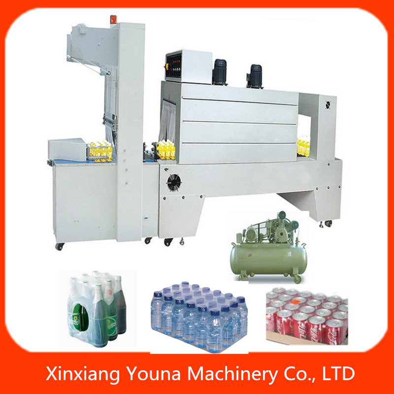 Hot sale semi auto shrink wrapping machine for bottle with PE film