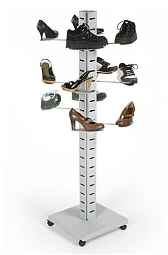 "60"" Metal Slatwall Tower display display stand"