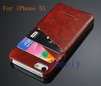 New Fashion PU Oil Wax Leather Cover Back Case For iPhone 5 5S Leather Cack Cover Case Wholesale