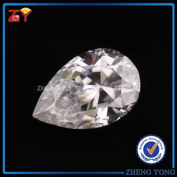 Wholesale Synthetic White Moissanite Diamonds Pear Cut 1.25ct VVS F G H Moissanite Factory Price