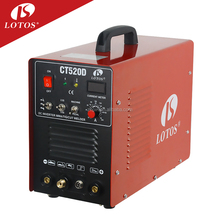 Lotos CT520D welding machinery Usage and DC Motor welding inverter 3 in 1 mig welder welding machine