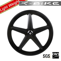 2014 XBIKE lightweight 5 spoke carbon fixed gear bike wheels