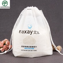 custom print Japan biodegradable compressed mask drawstring plastic <strong>bags</strong> with own logo