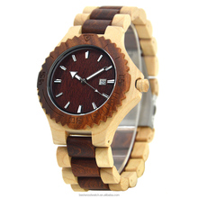 Trendiest wooden watch times square quartz watches japan movt water resistant 3 bar