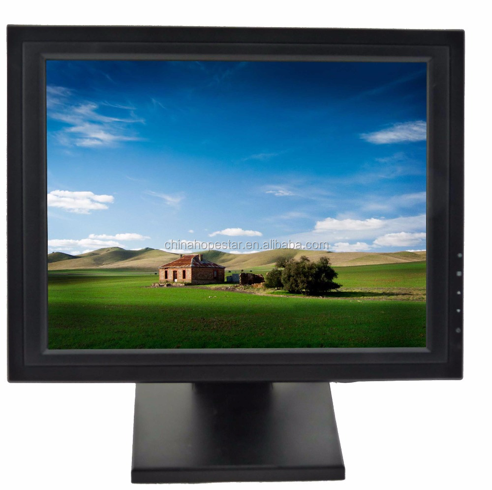 best price 15 inch ips led panel monitor resistive touch monitor hd monitor