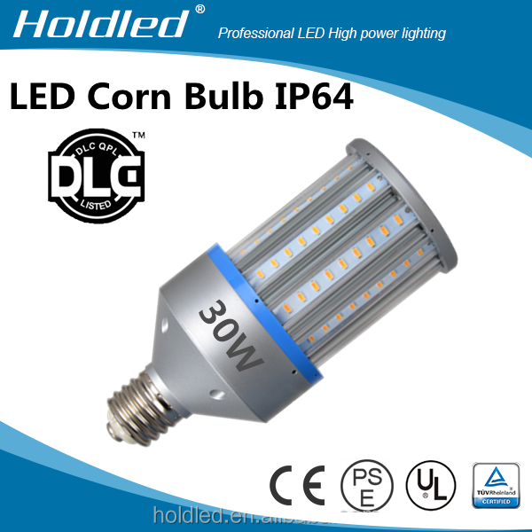 led cob bulb 30w 100-277v street light IP64 DLC UL CUL CE ROHS EMC LVD approved