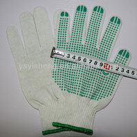 computer knitting gloves cotton safety gloves with pvc dots for safety work from gloves manufacturer