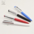 2018 Stationery product multicolor unique triangle shaped metal ball pen