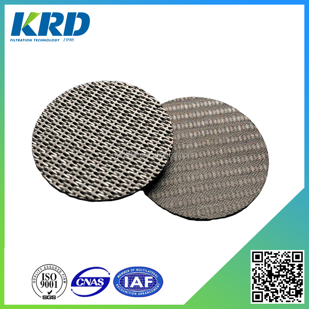 High Temperature 5 Micron Stainless Steel Filter Disc/Mesh
