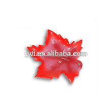 Eco-Friendly maple leaf ceramic plate