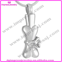 IJD9274 keepsake jewelry wholesael dog bone shaped stainless steel cremation urns for pet