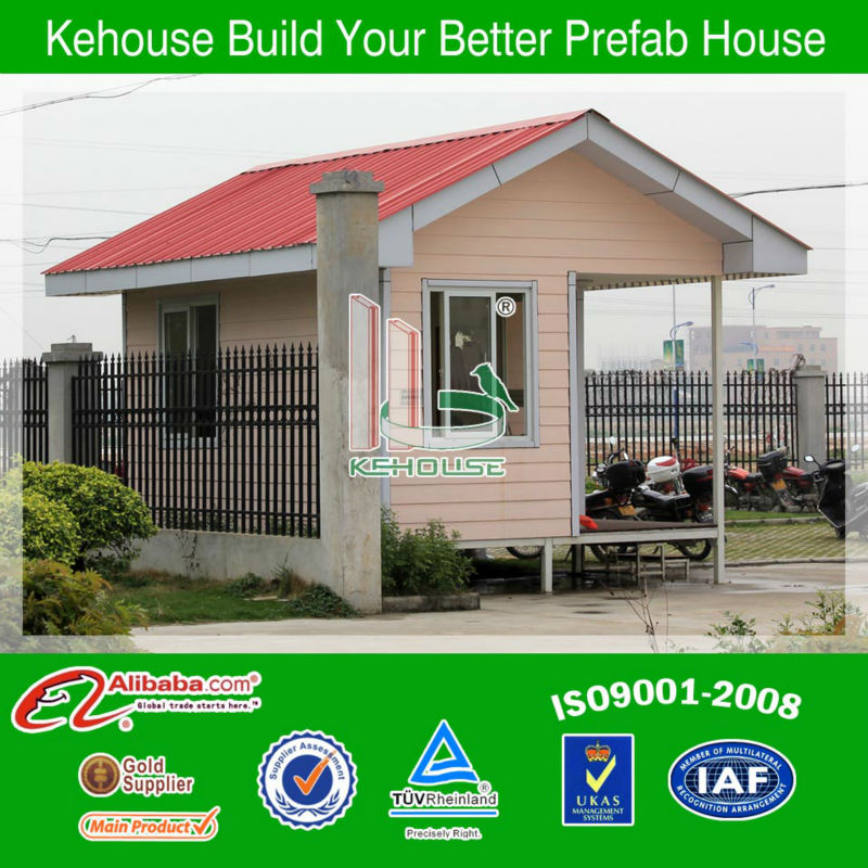 Prefabricated low cost portable guard house/ security guard cabin from china