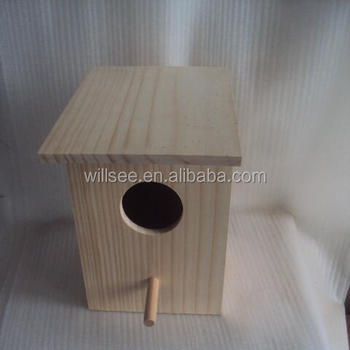Wooden Birdhouse1007-1,Solid pine wood birdhouse cage with nature colour with k.d structure