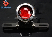 Universal Motorcycle Cool Fashion Style 12-V LED Tail Light Glass Lens Antique Lamps XS650 Bobber Cafe Racer Custom