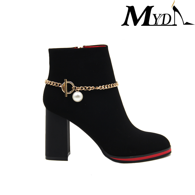 new arrival flower embroidery wooden thigh high heel boot