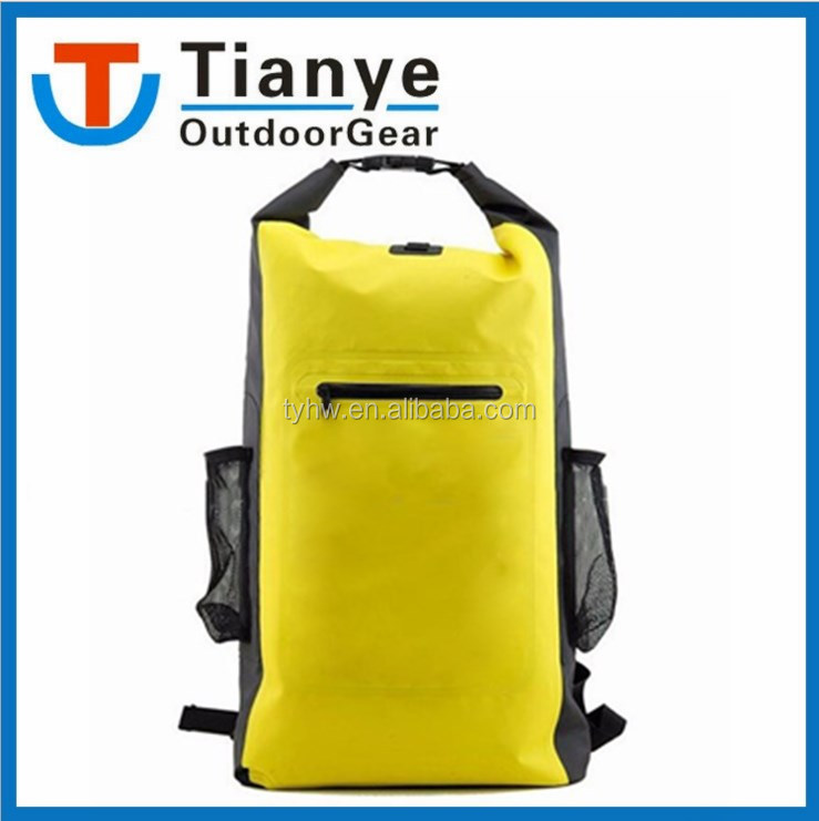 OEM Roll Top 500D PVC Backpack Outdoor Boating Waterproof dry backpack