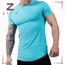 Dry Fit Custom Musle Fitted Sports Gym T Shirt Wholesale Men's Fitness Workout Clothing