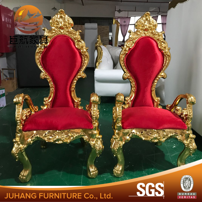 Top quality luxury king throne chair for wedding