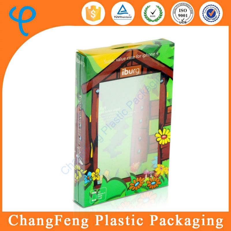 Custom Printed Clear Window Cell Phone Case Packaging Box