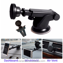 Multi purpose universal 2 in 1 car air vent magnetic dashboard mobile phone long arm tablet mount holder kit for smartphones