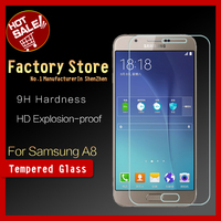 Factory price!! Mobile Phone accessory 0.33mm Premium Tempered glass screen protector for Samsung Galaxy A8