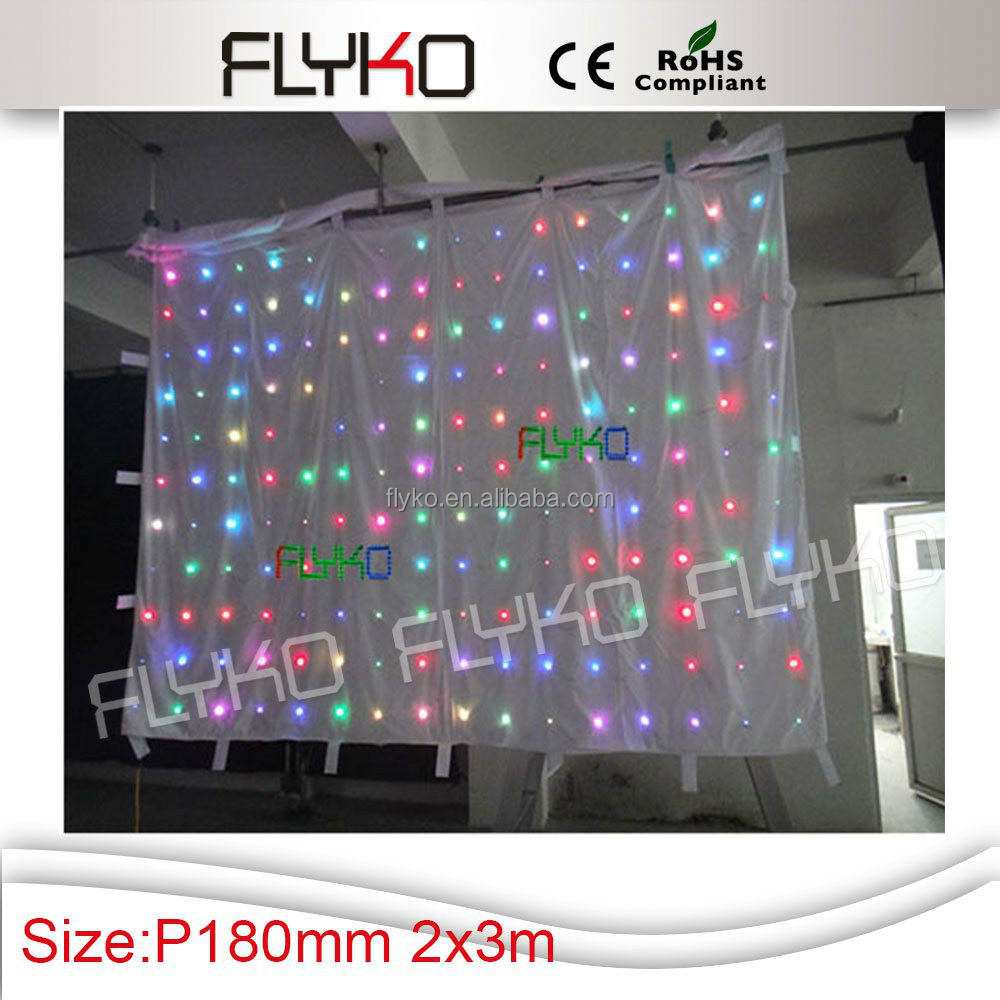 china supplier Full Color HD Flexible LED video screen curtain