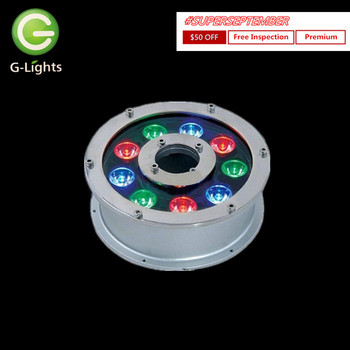 Christmas led underwater lights IP68 9W LED fountain light