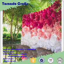Wholesale wedding Handcraft artificial flower for wedding paper flower wall