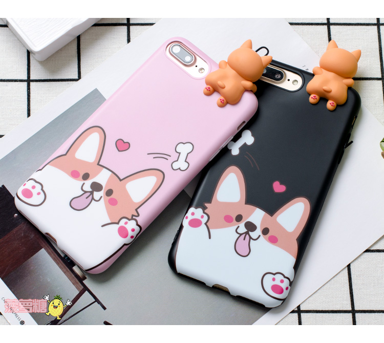 3D Welsh Corgi dog phone Cases For iphone 6 6s 6plus 7 7Plus Cute pet dog Toys soft silicon case back cover