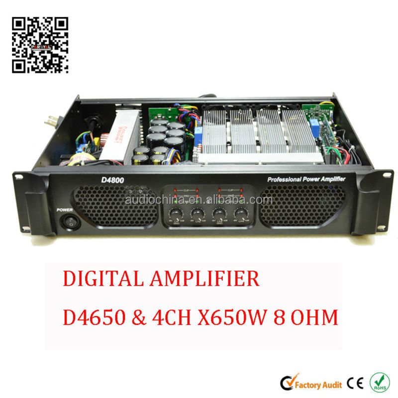 4 channel 650 watt digital switching power amplifier
