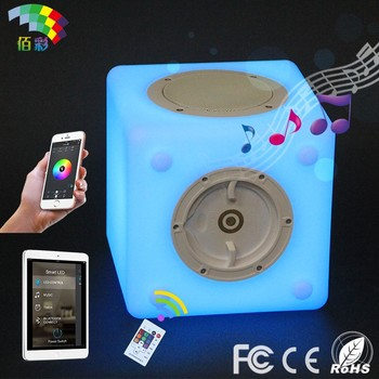 Fashionalbe illuminated mobile music mini bluetooth speaker for disco