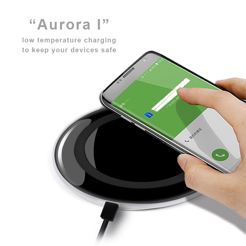 Ultra slim qi standard wireless charger 5.5.mm mobile phone charging for samsung