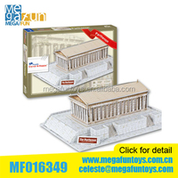 3D puzzle paper famous building the Parthenon (Greece) DIY toys