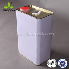 hot square gasoline cans for chemical use with screw top and handle