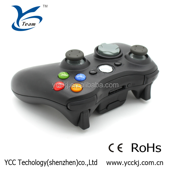 retail blister package black joypad wireless game controller for xbox 360 game console made in China