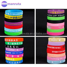 Colorful sillicone wristbands customized personalized logo silicone bracelet for event leading manufacture