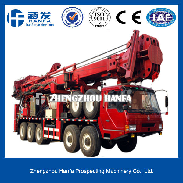 Powerful, high and new technology!HFT1500 Truck-mounted all hydraulic rotary head speed hole drilling rig