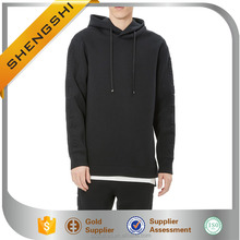 Embossed neoprene drawstring double zipper long ski hoodie