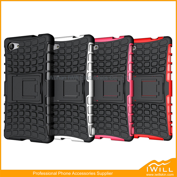 Hot Selling Heavy Rugged Hybrid Armor Shell Case For Sony Z5 Compact Case Back Protective Cover