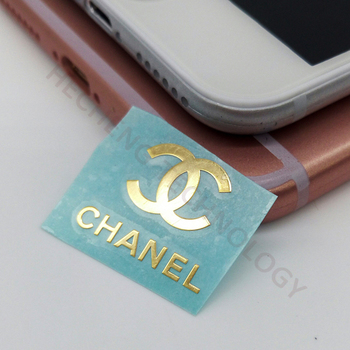 Custom 24K Gold Plated Thin Metal Brand Jewelry Logo Box Sticker