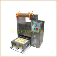 Fully automatic plastic fast food container top sealer machine/sensor sealing machine