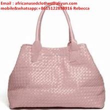 used school bags/ secondhand bags light pink colour lady bags for exporting